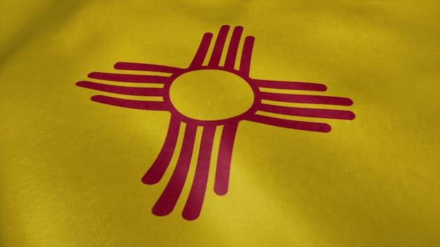 風になびかせてニューメキシコビデオの旗。