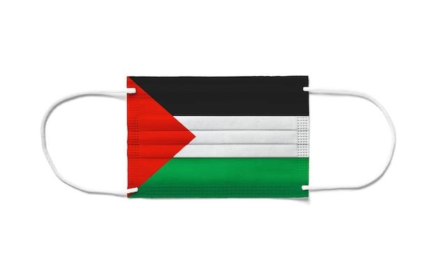 일회용 수술 마스크에 팔레스타인의 국기