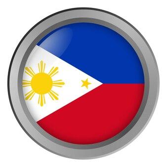 버튼으로 둥근 필리핀의 국기