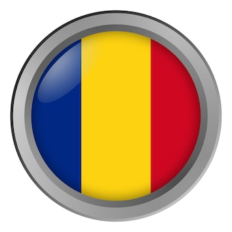 루마니아의 국기 버튼으로 라운드