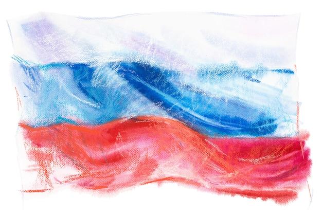 Флаг россии. российская федерация. акварельная иллюстрация.