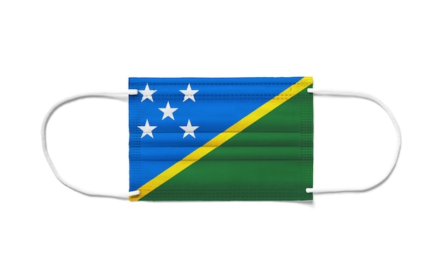 Флаг острова соломон на одноразовой хирургической маске
