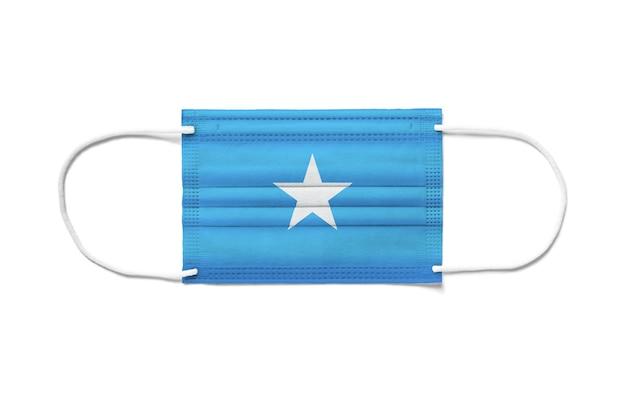 Флаг сомали на одноразовой хирургической маске