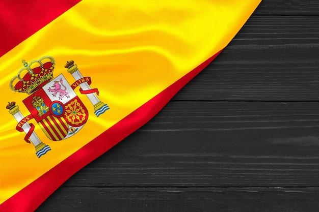텍스트 대처 공간에 대 한 스페인 장소의 국기