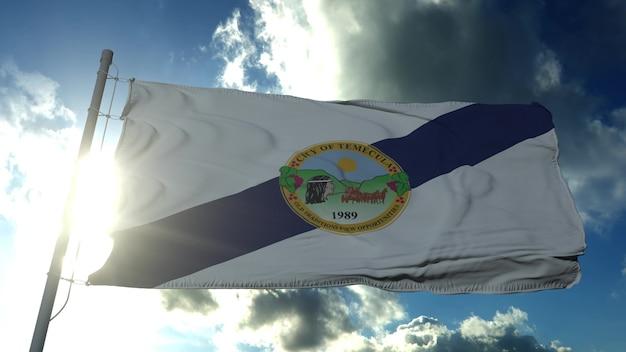 テメキュラの旗、カリフォルニア州、アメリカ合衆国。 3dレンダリング。