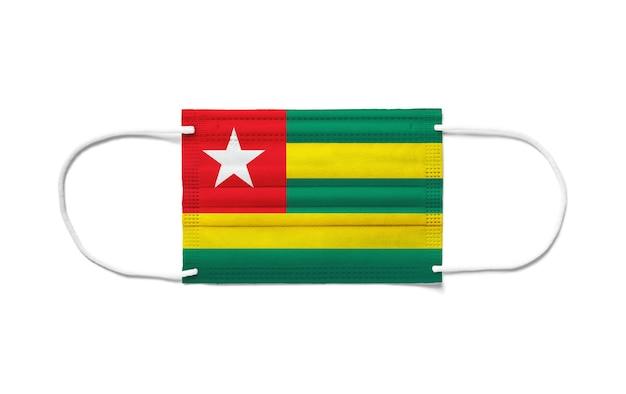 일회용 수술 마스크에 토고의 국기