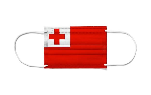 Флаг тонги на одноразовой хирургической маске