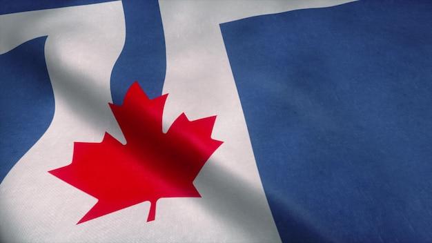 Флаг торонто развевается на ветру.