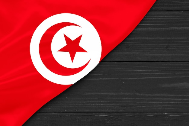튀니지 복사 공간의 국기