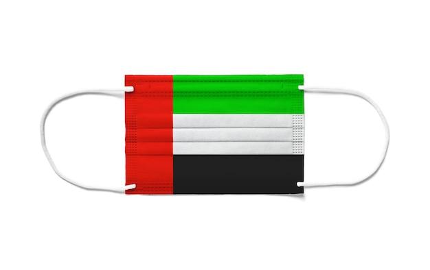 Флаг объединенных арабских эмиратов на одноразовой хирургической маске