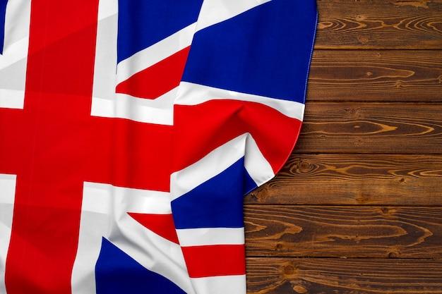 나무 표면, 복사 공간에 영국의 국기
