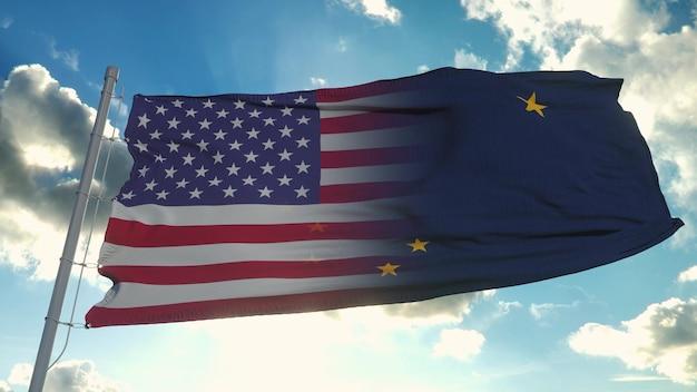 미국 및 알래스카 주 국기