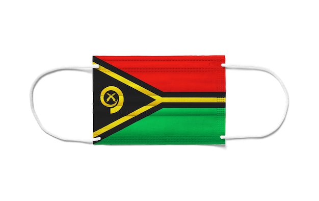 Флаг вануату на одноразовой хирургической маске