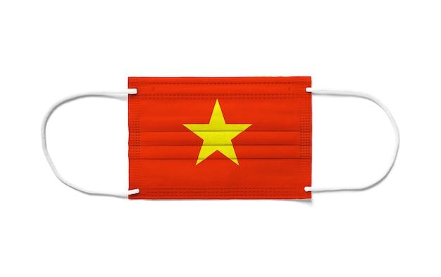 Флаг вьетнама на одноразовой хирургической маске