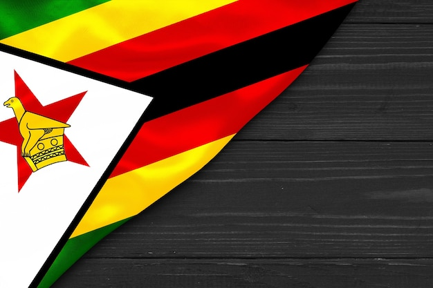 ジンバブエの旗コピースペース