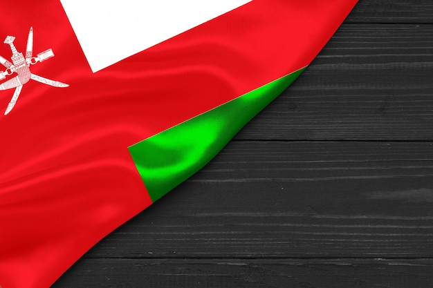 Flag of oman place for text cope space