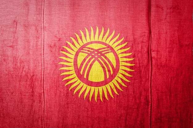Флаг на фоне текстуры ткани.