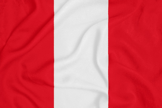 Flag of peru on textured fabric, patriotic symbol