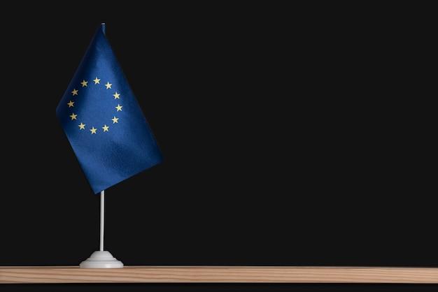 Flag pole with flag of eu