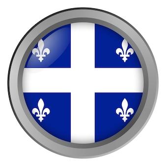 Flag of quebec round as a button