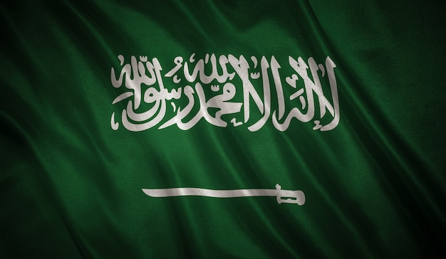 Flag of the saudi arabia