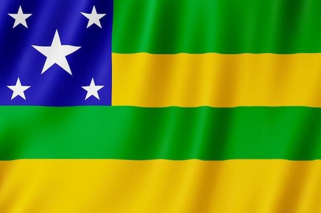 Flag of sergipe state in brazil