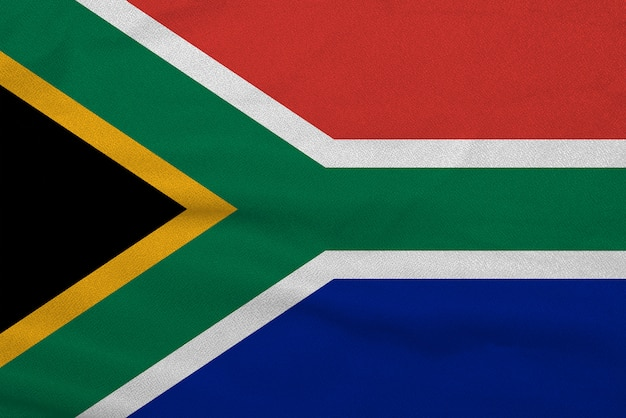 Flag of south africa as background