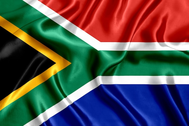 Flag of south africa silk close-up