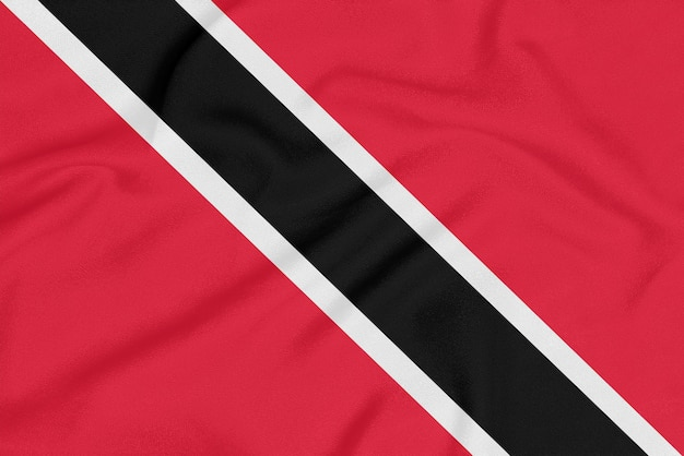 Flag of trinidad and tobago on textured fabric