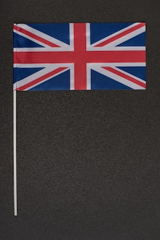 Flag of united kingdom on black background