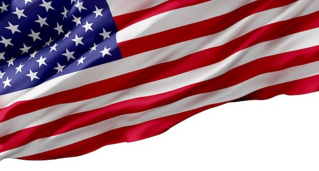 Flag usa on white background design