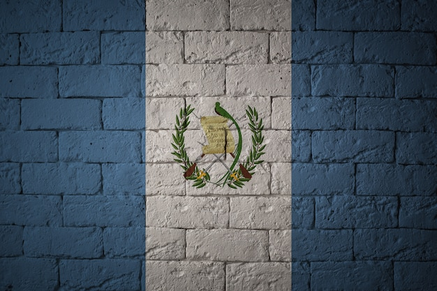 Flag with original proportions. closeup of grunge flag of guatemala