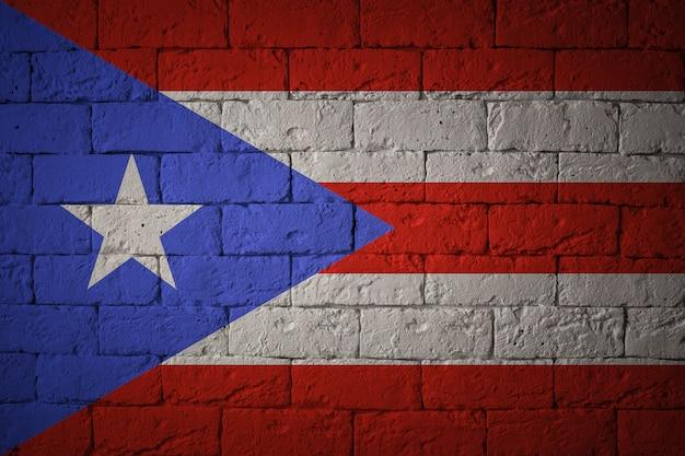 Флаг с оригинальными пропорциями. крупным планом гранж флаг пуэрто-рико