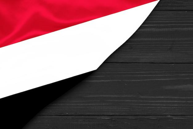 Flag of yemen copy space