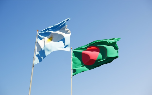 Flags of argentina and bangladesh