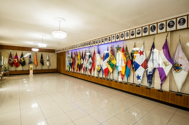 Flags in ceremony room