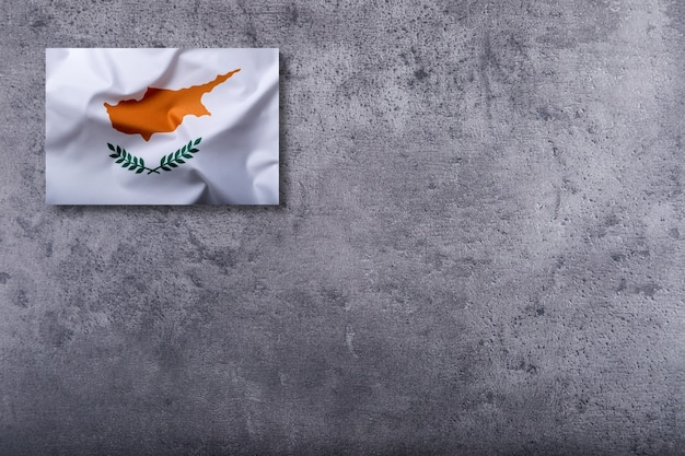 Flags of the cyprus on concrete background.