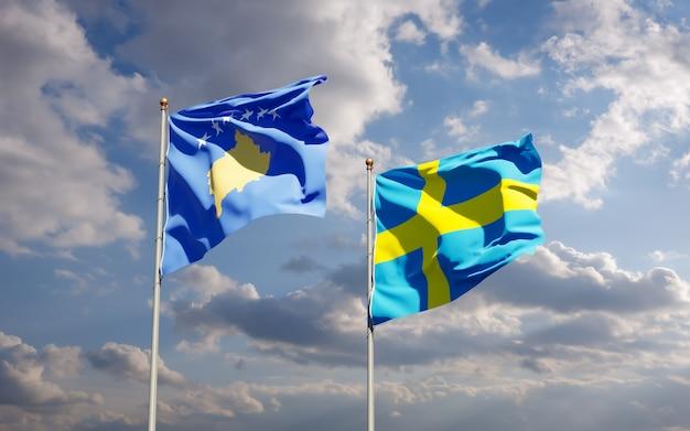 Флаги косово и швеции