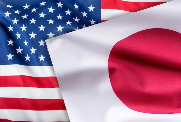 Флаги соединенных штатов америки и японии флаг вместе.