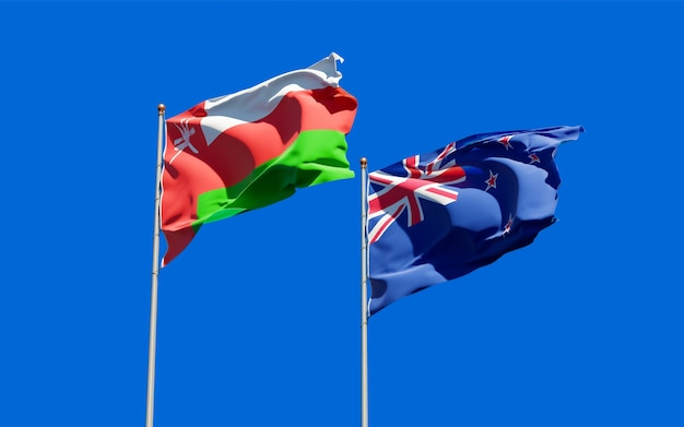 Flags of oman and new zealand
