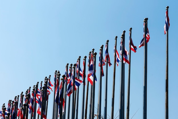 Flags of thailand.