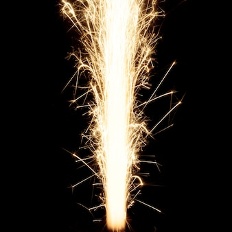 Flame of burning firework