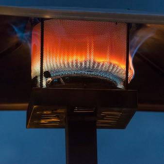 Flame burning in a gas lantern zona centro, san miguel de allende, guanajuato, mexico