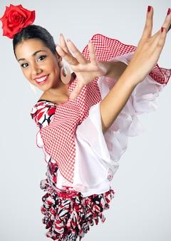 Flamenco ballerino in bel vestito