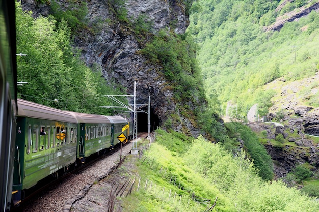 Flamsbana, the flam railway, норвегия