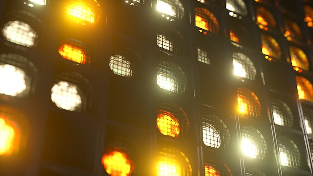 Flashing wall lights. flashing lights lanterns for clubs and discos. nightclub halogen lamp.