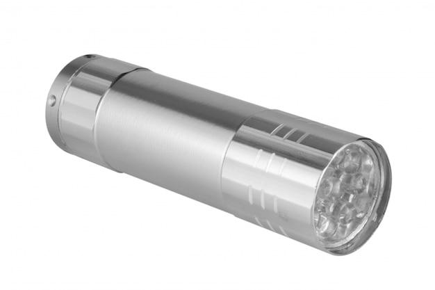 Flashlight small isolated on white background