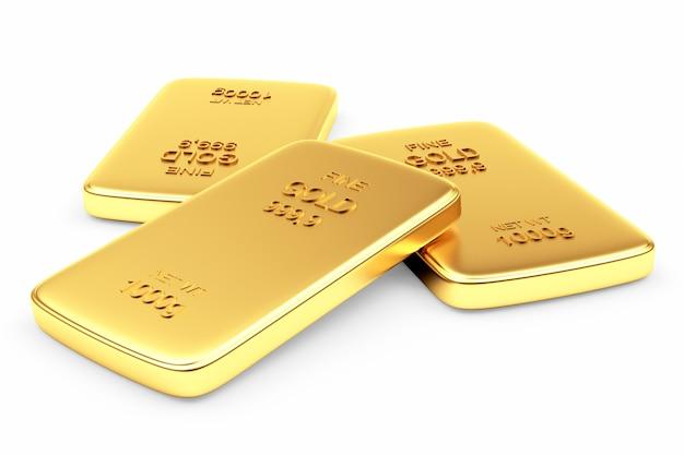 Flat gold bars