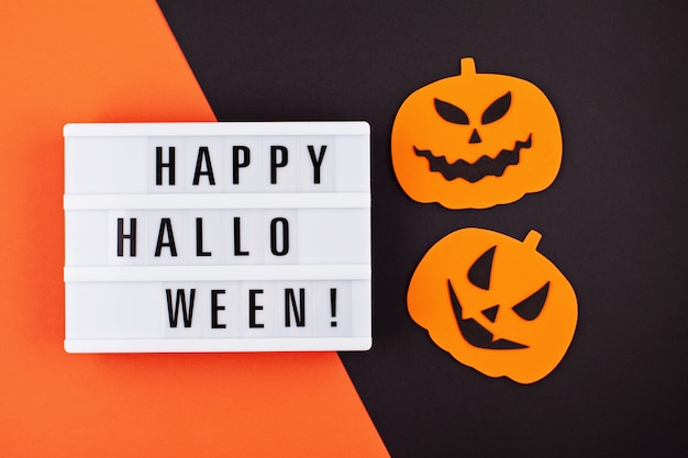 Flat lay of accessory decoration halloween festival background