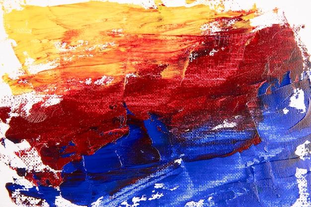Flat lay acrylic paint background